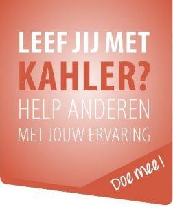 enquête Leef jij met Kahler. Help anderen met jouw ervaring. Doe mee